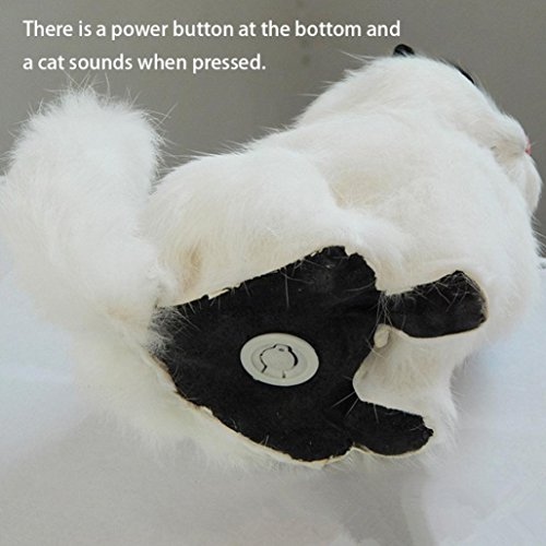 BOOMdan 2018 Adorable Interesting Plush animal toys imulation Cat Plush Animals Toy Kids Birthday Party Gifts (E)