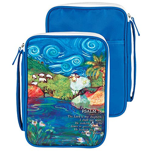 (Lord Is My Shepherd Large Blue Denier Polyester Bible Cover)