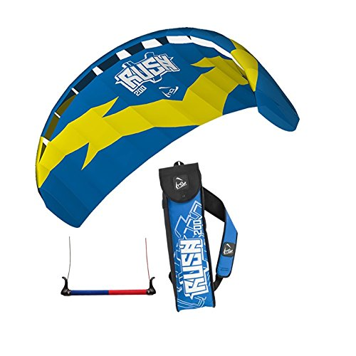 HQ TRAINER POWER KITE 2.0 RUSH 200 WITH CONTROL BAR NEW LINE SPORTS KITESURFING by Powerkites by Powerkites
