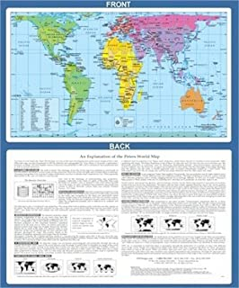 World Map Peter S Projection 9781869847029 Amazon Com Books