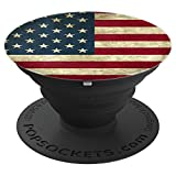USA American Flag Vintage Independence 4th Of July Gift - PopSockets Grip and Stand for Phones and Tablets
