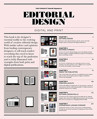 Editorial Design: Digital and Print [Cath Caldwell - Yolanda Zappaterra] (Tapa Blanda)