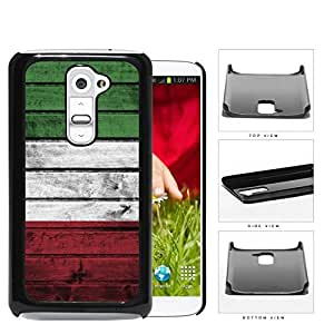 Italian Flag On Wood Hard Plastic Snap On Cell Phone Case LG G2