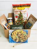 The Guyanese Chinese Box by Callaloo Box: Lam's Chow Mein Noodles, Karibbean Flavours Pomeroon Cassareep, Chow Mein Seasoning, Chinese Seasoning - Caribbean Food Box
