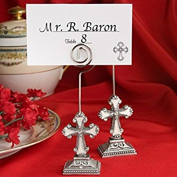 Fashioncraft Elegant Cross Design Place Card/Photo Holders ()