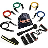 BAM Fitness 11 Piece Workout Exercise Resistance Bands...