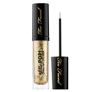 Liquid Glitter Eyeliner, Glitter Pop! Peel Off Eyeliner, 0.23 oz, Lucky B, Gold