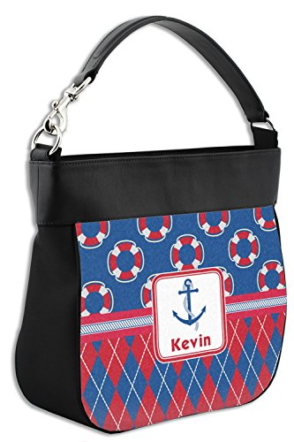 Genuine Hobo Print Leather Personalized w Buoy amp; Back Front Trim amp; Purse Argyle qtHYnA