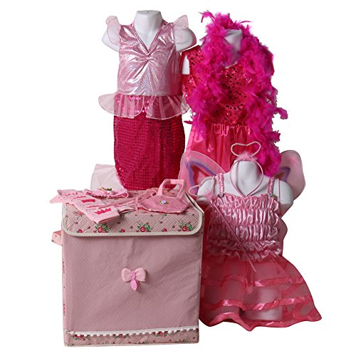 Girls Classic Pretty Pink Princess Dress Up Trunk size 6/8 years]()