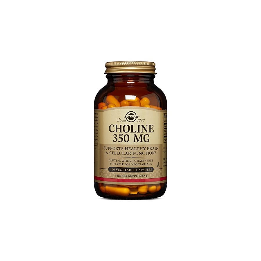 Solgar – Choline 350 mg, 100 Vegetable Capsules