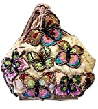 Mary Frances Attraction Beaded Crystal Jeweled Butterfly Handbag Purse Wristlet