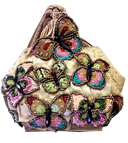 Mary Frances Attraction Beaded Crystal Jeweled Butterfly Handbag Purse Wristlet by Mary Frances