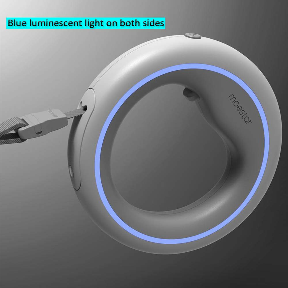 dise/ño antichoque MIJIA 977//5000 Moestar UFO Ring Cold Blue Breathing Light 2.6 Meter Dog Retractable Lead con 60KG Tensi/ón est/ática