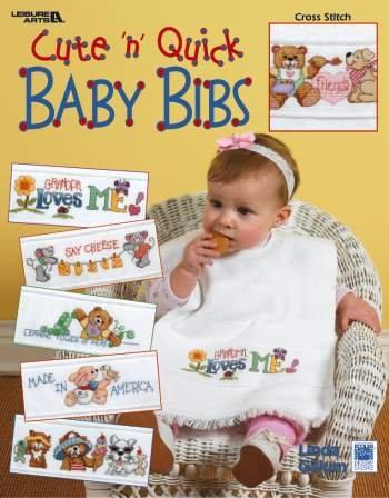 Cute 'n Quick Baby Bibs - Cross Stitch Pattern