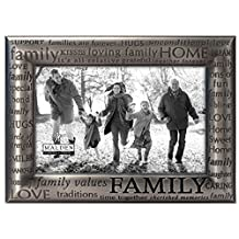 Malden International Designs Modern Pewter Metal Diecast Family Expressions Picture Frame, 4 by 6-Inch