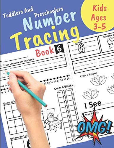 Number Tracing book for Toddlers and Preschoolers Kids Ages 3-5: Preschool Numbers Tracing Math Practice Workbook  Learn numbers 0 to 20! Math ... Great Gift for Toddlers and Preschoolers. (Printable Activity Pages For 3 Year Olds)
