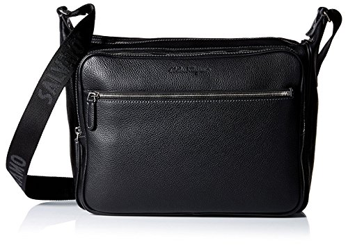Salvatore Ferragamo Men's Manhattan Shoulder Bag, Nero by Salvatore Ferragamo