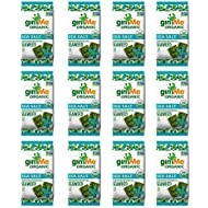 gimMe Organic Roasted Seaweed - Sea Salt - Source of Vitamin C, Iodine, Omega 3's - 12 Count - Keto, Vegan, Gluten Free - Healthy On-The-Go Snack for Kids & Adults