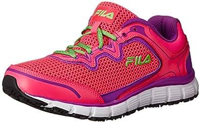 Fila Women's Memory Fresh Start SR Training Shoe, Knock Out Pink/Purple Cactus Flower/White, 6.5 M US