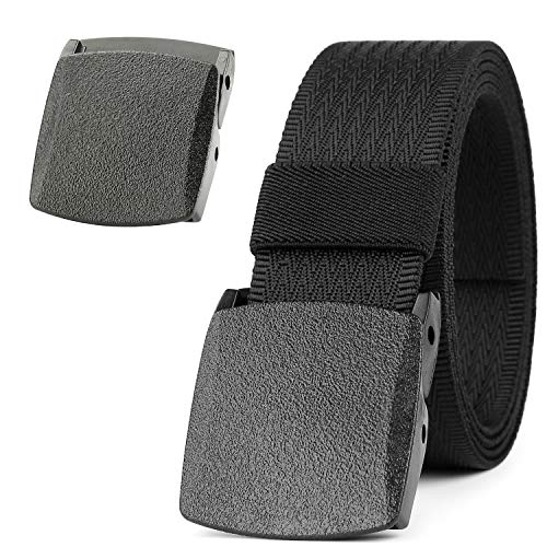 - JASGOOD Unisex Nickel Free Belt 1.5 In Nylon Adjustable Web Belt with Plastic Buckle (Suitable for pant size below 45