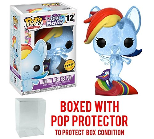 Funko My Little Pony Movie POP Rainbow Dash Sea Pony Vinyl Figure CHASE VERSION