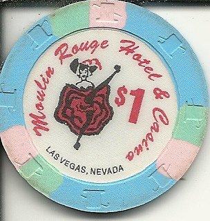 $1 moulin rouge super rare obsolete las vegas casino chip