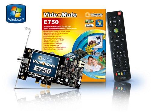 Compro E750 PCI Express Dual DVBT Media Remote Control