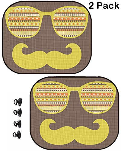 Glasses 921 (MSD Car Sun Shade Protector Block Damaging UV Rays Sunlight Heat for All Vehicles, 2 Pack Image 26796127 Retro Sunglasses with Reflection for Hipster Vector Illustration of acce)