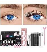Libeauty Eyelash Perm Kit, Long-Lasting Curl, Home amp; Professional Use Lash Lift Kit Semi-Permanen...