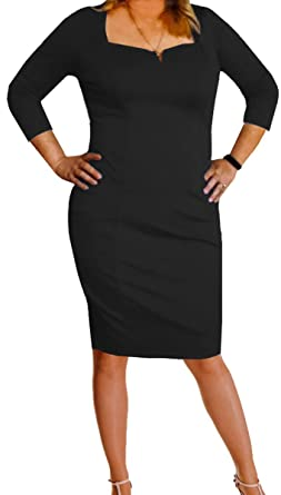 108ca2eb251 Funfash Plus Size Women Black LBD Slimming Bodycon Cocktail Dress Made in  USA