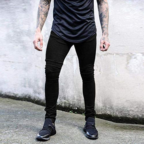 Autunno Uomo Fashion Motociclista Da Casual Jeans Retrò Uomo Nero R Stretch Pantaloni Estivi Giovane Slim Skinny Saoye Denim wzUI0xqI