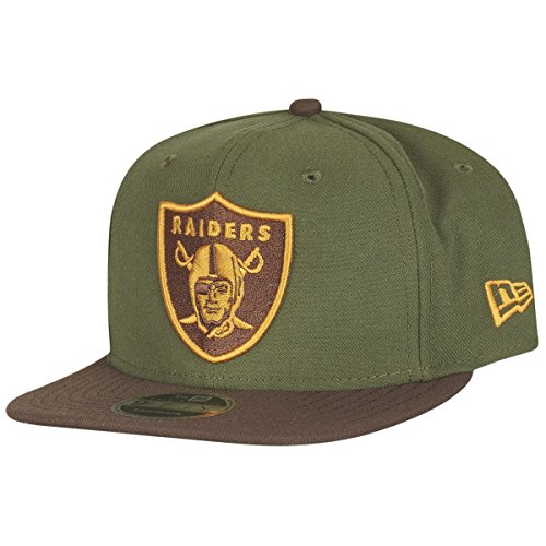 New Era Original-Fit Snapback Cap - Oakland Raiders vert