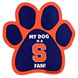 All Star Dogs NCAA Syracuse Orangemen Paw Print Car Magnet