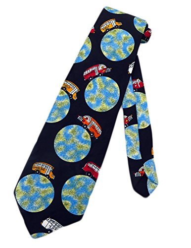 Renaissance Men's School Buses Bus Driver Necktie - Black - One Size Neck Tie