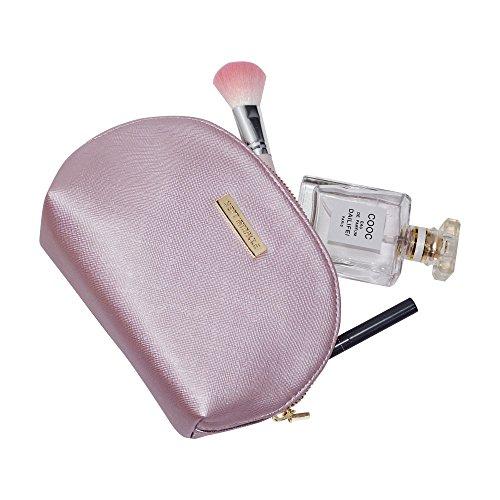 Sept Miracle Women Large Capacity Cosmetic Bag PU Make up Bag for Traveling (Rose (Miracle Zip)