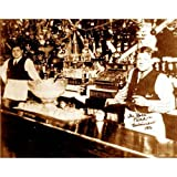Quality digital print of a vintage photograph -Babe Ruth and Dad at Baltimore saloon.. Sepia Tone 11x14 inches - Matte Finish