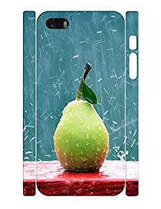Colorful Theme Smart Phone Case With Bergamot Pear Graphic Drop Proof Case Cover for Iphone 5 5s