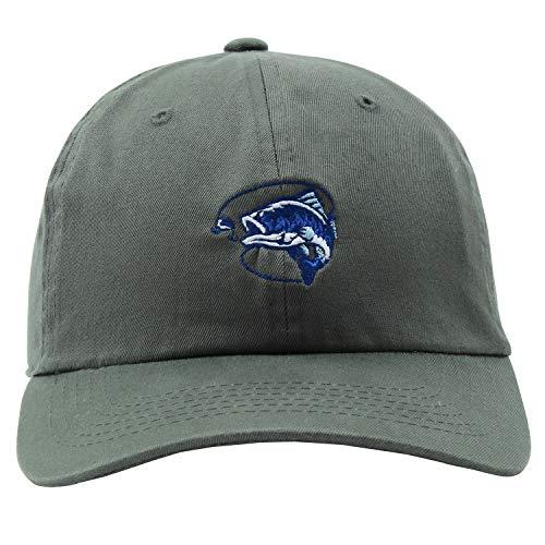 JPAK Bass Fishing Dads Hat Embroidered Baseball Cap (Grey)