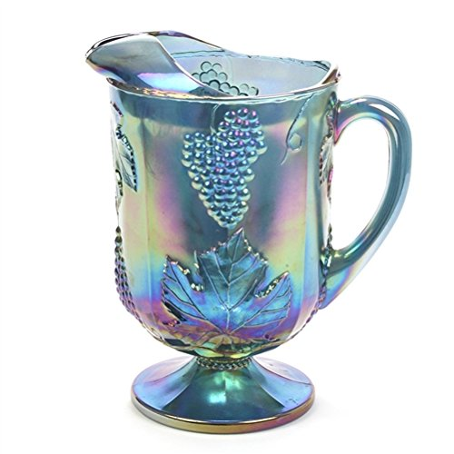 Harvest, Blue Carnival by Colony, Glass Water Pitcher