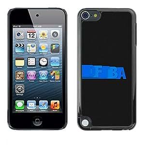 TECHCASE**Cubierta de la caja de protección la piel dura para el ** Apple iPod Touch 5 ** Letters Writing Blue Random Wallpaper Black