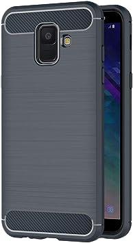 AICEK Funda Compatible Samsung Galaxy A6 2018, Azul Silicona ...