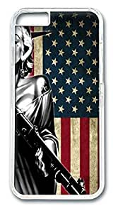 Marilyn Monroe American Flag HAC1014341 Polycarbonate Hard Case Cover for iphone 6 plus 5.5inch Transparent