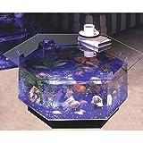 "Midwest Tropical O-100 30"" Long Aqua Octagon Coffee Table Aquarium 40"