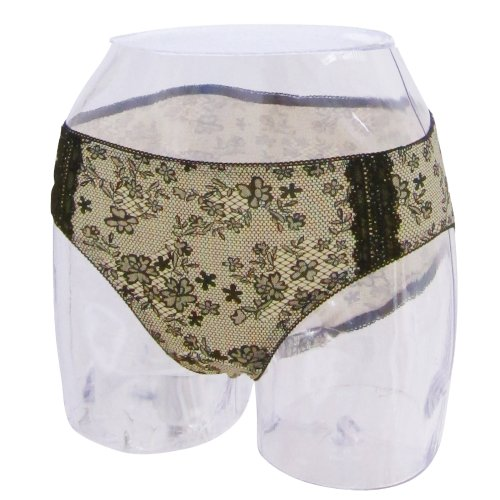 Sweet Mommy Lacy Print Postpartum Panty [Made in Japan] YellowBeige, M