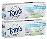Beauty : Tom's of Maine, Natural Rapid Relief Sensitive Toothpaste, Natural Toothpaste, Sensitive Toothpaste, Fresh Mint, 4 Ounce, 2-Pack