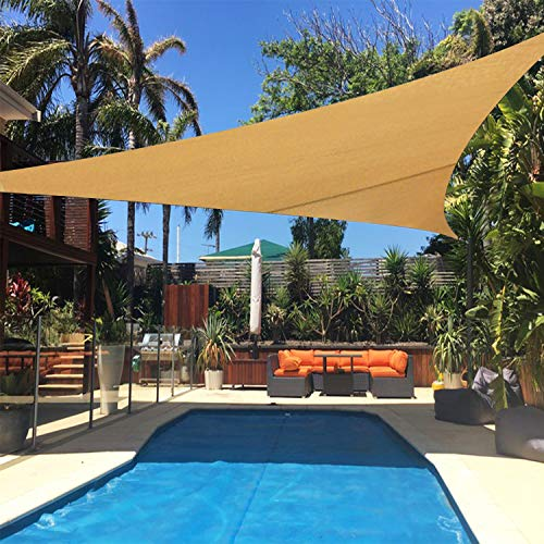 UPGRADE 20 x20 x20 Sun Shade Sail Triangle Sand Outdoor UV Block Sail Shades for Patios Yard Backyard Pergola Garden