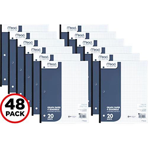 Mead Graph Paper Pads, Quadrille, 4 Squares per Inch, 11