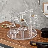MyGift 9-Tier Clear Acrylic Ring Organizer