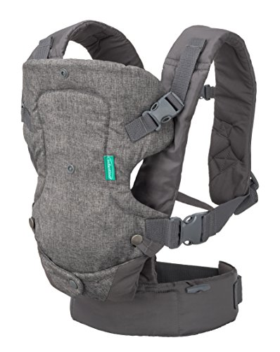 Infantino Flip 4-in-1 Convertible Carrier, Grey (Best Rated Infant Carriers)