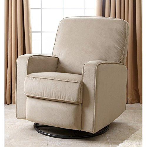 Abbyson Living Ravenna Fabric Swivel Glider Recliner Chair i